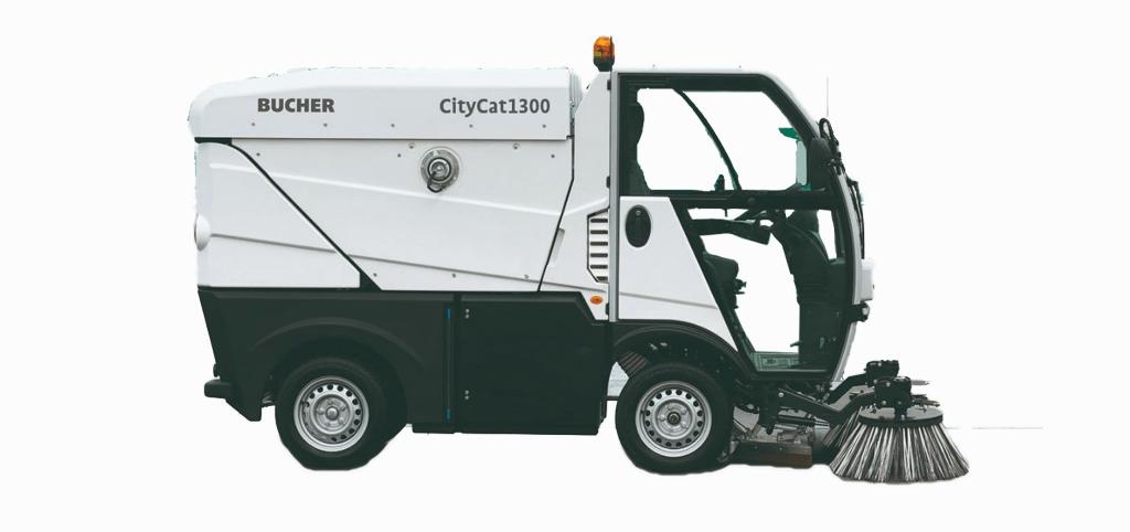 Kompakt sopmaskin CityCat 1300 från Bucher
