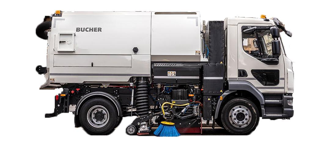 Lastbilsburen sopmaskin V652 från Bucher