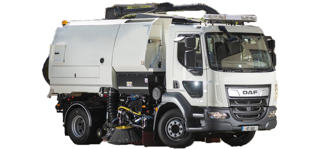 Lastbilsmonterad sopmaskin från Bucher